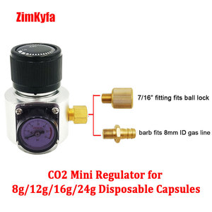 Image 5 - Co2 Mini Gas Regulator,Sodastream,Paintball,CGA320,W21.8 Tank,Disposable Cartridge Adapter for Homebrew Beer Cornelius/Corny Keg
