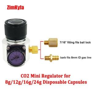 Image 5 - Mini regulador de gás co2, sodastream, paintball, cga320, tanque w21.8, adaptador de cartucho descartável para cerveja homebrew cornelius/barril corny