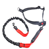 Large And Medium sized Dog Pet Dog Elastic Buffer Reflective Proof Punch Running Lanyard Dog Lanyard Sub Hand Holding Rope