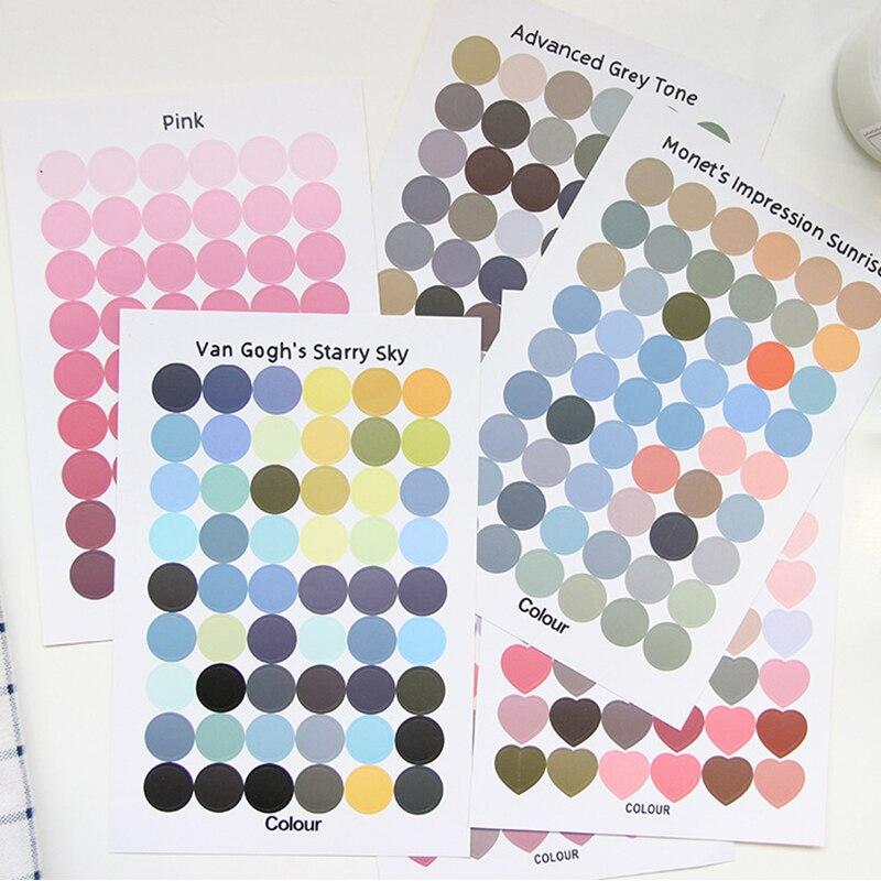 VanYi 14 Designs Monet Colors Diary Ablum Korean Kawaii Stickers Scrapbooking Planner Sheets Van Gog