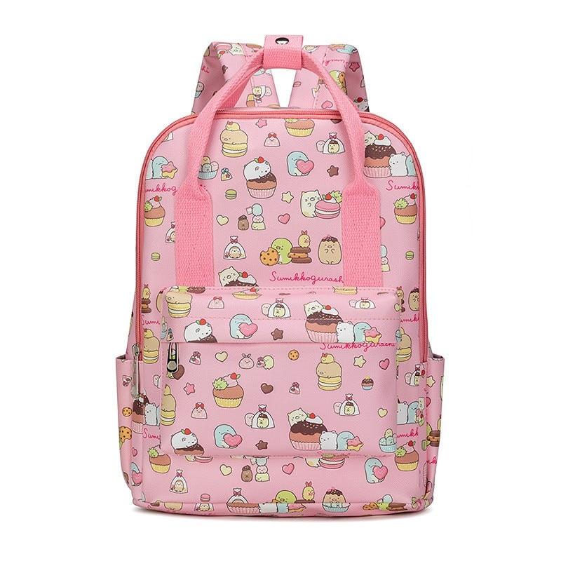 Cartoon Sumikko Gurashi Melody Animal Unicorn PU Fashion Large Capacity Student School Bags Teenager Travel Shouder Bag Backpack