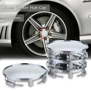 4 шт., набор, 75 мм/69 мм, черная Автомобильная крышка ступицы для Benz