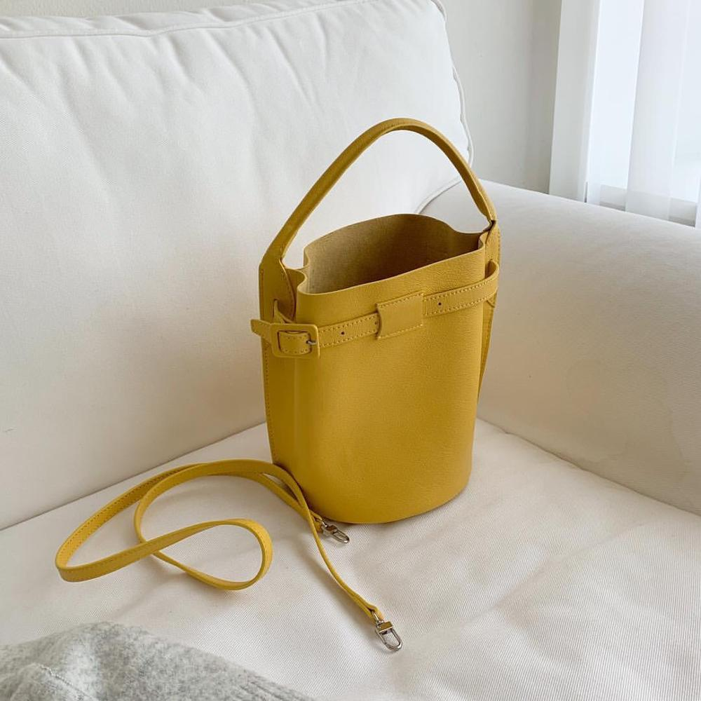 Fashion Belts Buckets Bag Designer Brand Women Handbags Luxury Pu Lady Shoulder Crossbody Bags Large Capacity Totes Casual Purse in Top Handle Bags from Luggage Bags