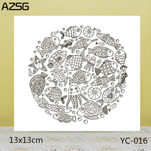 ZhuoAng Fish Clear Stamps For DIY Scrapbooking/Card Making Decorative Silicon Stamp Crafts