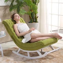 Современный дизайн кресло-качалка для отдыха, диван-кровать, тканевая деревянная мебель для дома, диваны для гостиной, для взрослых, Роскошн...