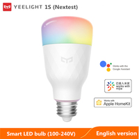 Nextest-bombilla LED inteligente yeelight 1S/1SE, colorida lámpara de casa inteligente con control de voz, WIFI, con aplicación Xiaomi mijia, mihome homekit, 2021