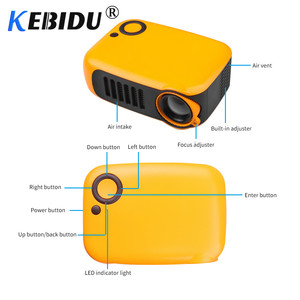 Image 2 - Kebidu מיני נייד מקרן 800 לום תומך 1080P LCD 50000 שעות מנורת חיים קולנוע ביתי וידאו מקרן עבור האיחוד האירופי תקע