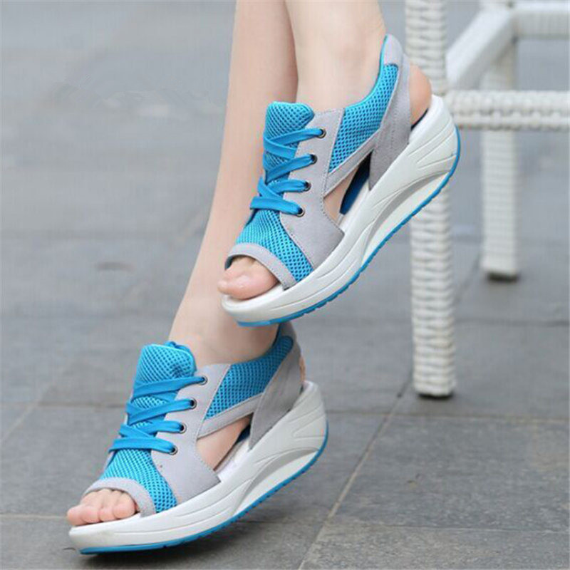 Summer Running Shoes For Women Sneakers Women Swing Sandals Sport Shoes Woman Mesh Platform Light Trainers Zapatos De Mujer