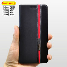 Кожаный чехол бумажник с откидной крышкой для samsung galaxy