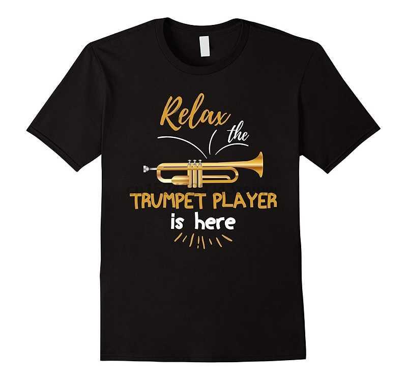 Özel gömlek Relax trompet oyuncu burada müzisyen müzik sevgilisi o-boyun kısa kollu sıkıştırma erkek T shirt