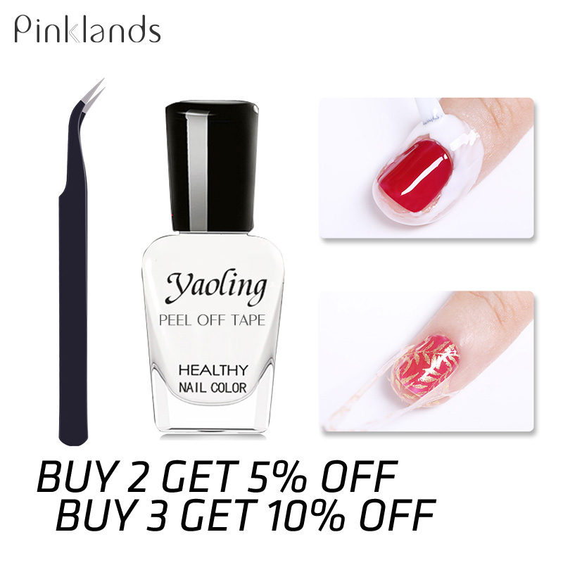 Anti-freezing Peel Off Liquid Tape Form Nail Polish Protection Finger Latex Anti-overflow Glue Art Manicure Edge