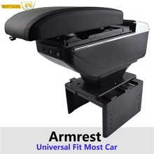 Arm-Rest Cup-Holder Console Central Comfort-Storage Universal Black Content Ash Adjustable
