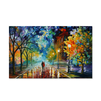 1Pc Hot Oil Painting Already Painted Without Frame Rainny Days Picture Art Craft for Home Decors Living Room Decoration 40*60cm image