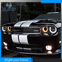 Front Head Lamp For Dodge Challenger 2009 2010 2011 2012 2013 2014 LED Headlight Projector High Beam Parking Fog Lamp