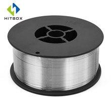 HITBOX флюс сердечник проволока самоэкранированная без газа Mig проволока 1 кг железная Сварка 0,8 мм углеродистая сталь флюс сердечник проволока Mig Сварка газообразная проволока