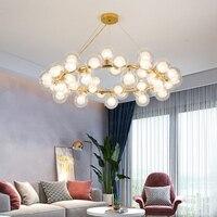 chandelier Light Modern Glass chandelier Luxury Golden light chandelier Fashion G4 Large Light chandelier Modern