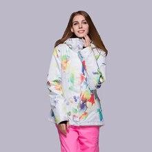 GSOU Лыжная куртка зимняя водонепроницаемая ветрозащитная дышащая женская зимняя куртка для сноубординга Спортивная одежда для улицы