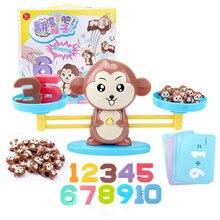 Giocattolo di matematica Montessori bilancia digitale per scimmia bilancia matematica educativa pinguino bilancia bilancia numero gioco da tavolo giocattoli per l'apprendimento dei bambini