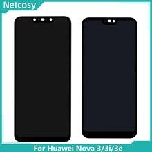 Dla Huawei Nova 3 wyświetlacz LCD ekran dotykowy PAR LX1 LX9 Nova 3i LCD INE LX2 L21 Nova 3e wyświetlacz ANE LX3 L23 ekran LCD montaż