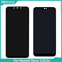 Para Huawei 3 Nova LCD Screen Display Toque PAR LX1 LX9 Nova 3i LCD INE LX2 L21 Nova Exibição 3e ANE LX3 L23 Assembléia LCD Tela