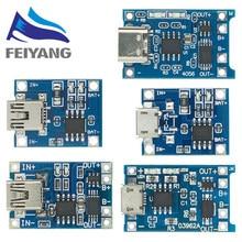 10 pièces Micro USB 5V 1A 18650 TP4056 Chargeur de Batterie Au Lithium Module Carte De Recharge Avec Protection Double Fonctions 1A Li-ion