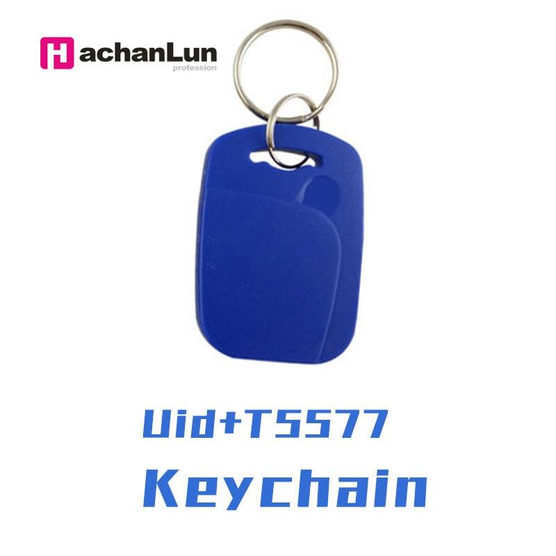 50/ 100pcs UID + 5577 RFID Smart NFC Dual Chip IC + ID Composite Keychain 125KHZ EM4305 13.56MHZ Repeatable Erasable Access Card