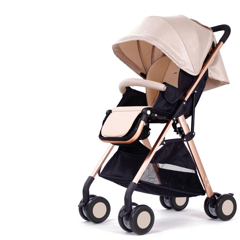 High Landscape Stroller Easy To Fold Ultra Light Portable Can Sit Reclining Can Be On The Aircraft Shock Absorber
