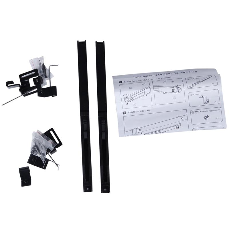New Barn Door Soft Close Mechanism Spring Buffer Damper for Sliding Barn Door Hardware Remission Adjustable Door Stoppers