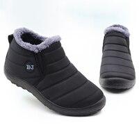 Men Boots Lightweight Winter Shoes For Men Snow Boots Waterproof Winter Footwear Plus Size 47 Slip On Unisex Ankle Winter Boots 1