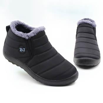 Men Boots Lightweight Winter Shoes For Men Snow Boots Waterproof Winter Footwear Plus Size 47 Slip On Unisex Ankle Winter Boots
