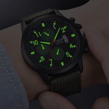 XINEW Watch Fashion Luminous Men Sports Watches Nylon Band Quartz Military Relogio Masculino Reloj Hombre