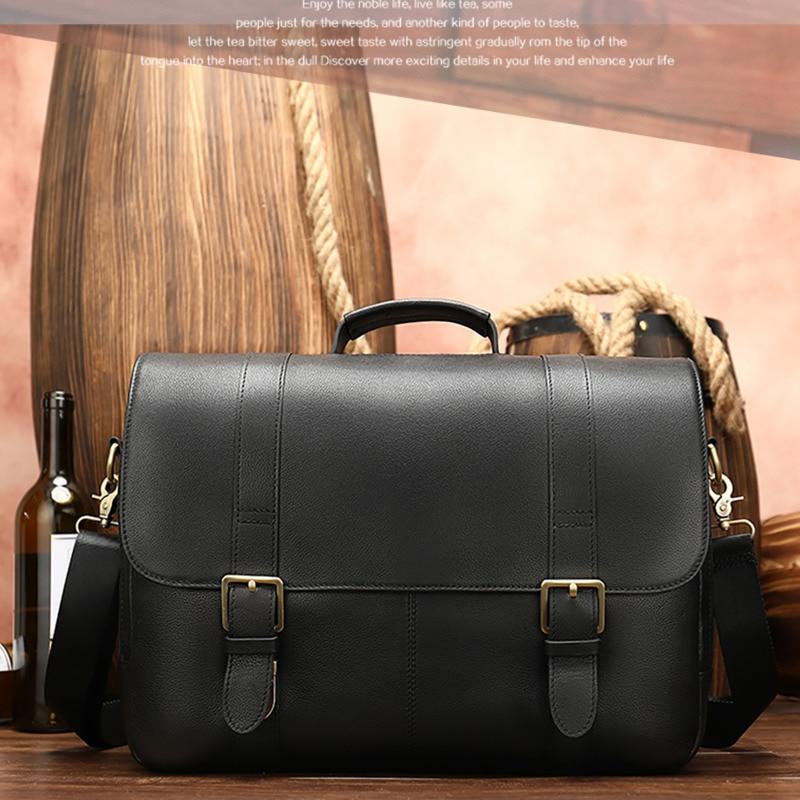 Men's Briefcase Leather Laptop Bags For Men Document Bag Men's Genuine Leather Office Bag For Men's Briefcase Handbag Laptop