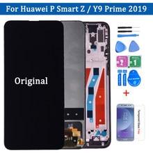 Originele Voor Huawei Y9 Prime 2019 Lcd-scherm 6.59 Inch Touch Screen 10 Digitizer Vergadering Touch Frame Voor Huawei P smart Z Lcd
