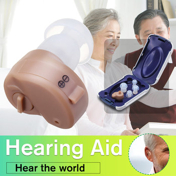 K-80 Mini Adjustable Dightal Tone In-ear Best Sound Enhancement Deaf Volume Amplifier Hearing Aid Aids Ear Assistance image