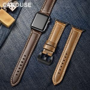 Image 4 - להתהולל שמן שעוות עור בעבודת יד עבור אפל שעון להקת סדרת SE/6/5/4/3/2/1 38mm 42mm רצועת עבור iWatch 44mm 40mm רצועת השעון