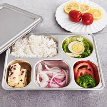 7 Style Stainless Steel Divided Dinner Tray Lunch Container Food Plate for School Canteen(China)