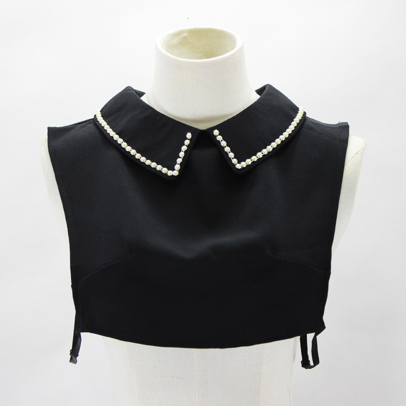 Doll Set Pearl Decoration Lead Square White Dickie Fake Collar Detachable New Free Shipping Necklace Shirt Women