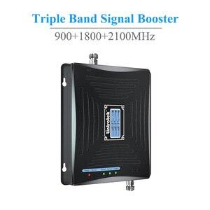Image 2 - Lintratek חדש תלת להקת 2G 3G 4G LTE טלפון סלולרי אות משחזר Booster מגבר GSM 900MHz 1800MHz 2100MHz WCDMA אנטנה סט @