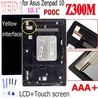 Weida Z300M LCD + Rahmen Für Asus Zenpad 10 Z300 Z300M P00C LCD Display Touch Screen Digitizer Reparatur Teile-in Tablett-LCDs und -Paneele aus Computer und Büro bei