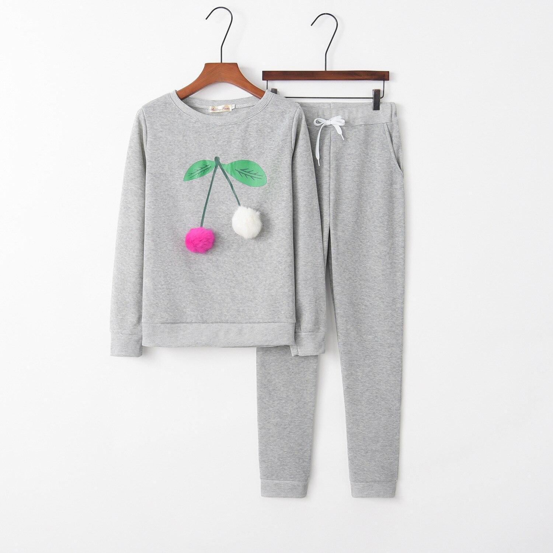 Cherry Fruit 2020 New Design Fashion Hot Sale Suit Set Women Tracksuit Two-piece Style Outfit Sweatshirt Sport Wear