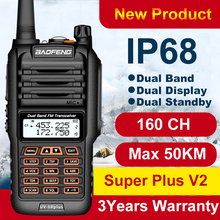 160CH Baofeng Walkie Talkie a lungo raggio UV 9R Plus 50km IP68 impermeabile walkie talkie radio a 2 vie Baofeng uv9r plus Ham CB Radio
