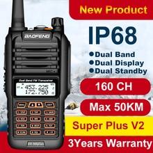 160CH Baofeng de largo alcance Walkie Talkie UV 9R más 50km IP68 walkie talkie impermeable 2 radio Baofeng uv9r más jamón Radio CB