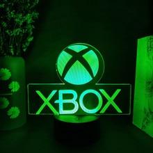 Xbox jogo ícone 3d ilusão lâmpada sala de jogos configuração desktop led sensor luzes mudando a cor do computador backlight quarto decoração