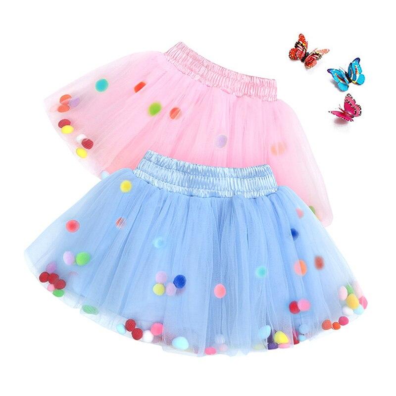 Детская Радужная юбка-пачка, для маленьких детей, детское балетное платье для танцев вечерние костюм Pom фатиновая одежда принцессы модные ...