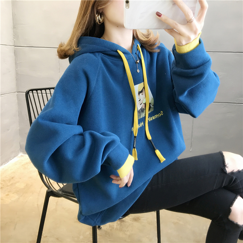 Oversized Women's Printing Hoodies Sweatshirts Harajuku Long Sleeve Casual Tops Women Clothing Feminina Loose Hooded Pullover 65