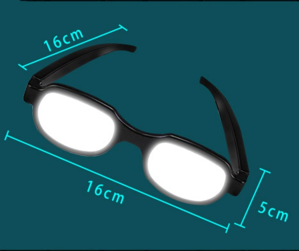 Anime Japanese Cosplay Funny Prop LED Glowing Glasses Black Glasses Xmas Gift
