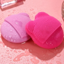 Mini Electric Massage Brush Face Cleaning Brush With Mirror Silicone Facial Washing Brush Exfoliating Deep Pore Clean