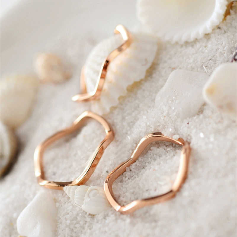 Brief elegant lovers ring fashion titanium gold color ring the joint pinky ring women16mm hot slim