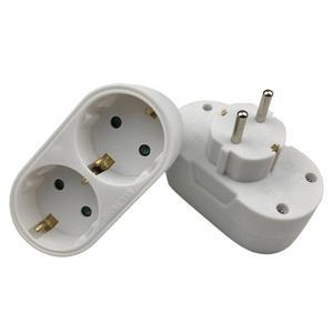 Image 2 - Europese Conversie Plug 1 Naar 2 1to 3 1 T 4 Way Socket Adapter Eu Standaard Power Adapter Socket 16A reizen Pluggen Ac 110 ~ 250V