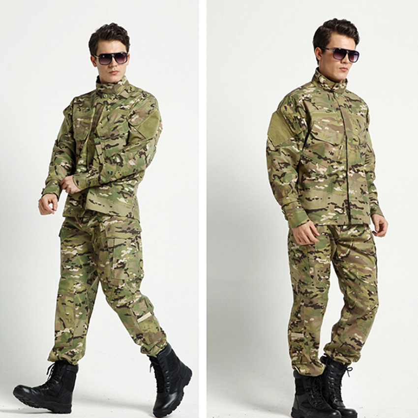 WW2 Desert Camouflage Print Man Military Uniform Security Combat Tactical Jacket+pants Costumes Soldier Army Suit African Male